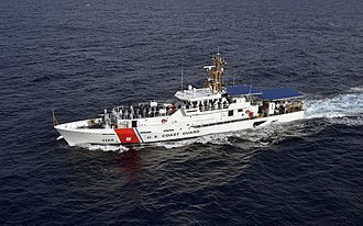 USCGC Lawrence O. Lawson - Image: Lawrence Lawson crew mans the rail during sea trials off the coast of Miami,