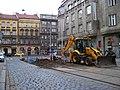 Lazarská, rekonstrukce tramvajové trati.jpg