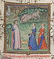 Le Jugement dou roi de Behaingne - Guillaume de Machaut épiant les amoureux déçus.jpg