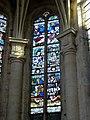 Le Mesnil-Aubry (95), église de la Nativité de la Vierge, vitrail à droite du chœur (baie n° 2).jpg