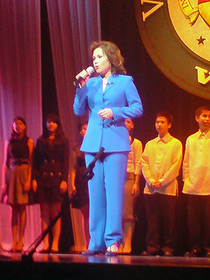 Lea Salonga performing at the 2009 Volvo Voice...