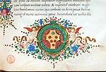 Leonardo bruni, epistole, firenze, 1425-1500 ca. (bml, pluteo52.6) 10 stemma medici.jpg