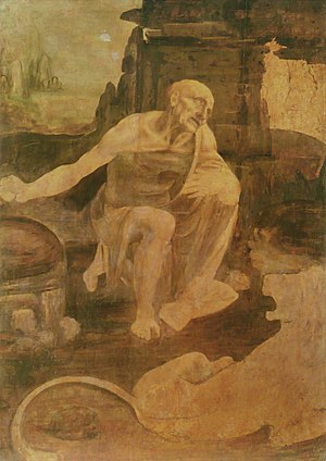 St. Jerome in the Wilderness (Leonardo) - Image: Leonardo da Vinci Saint Jerome