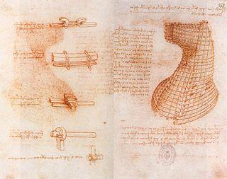 manuscript book by Leonardo da Vinci