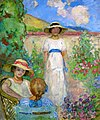 Les Andelys Three Girls in a Garden by Henri Lebasque 1914.jpeg