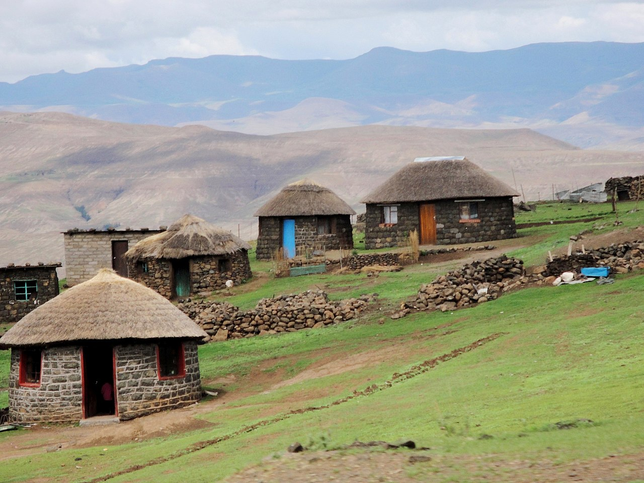 Desa di pegunungan Lesotho