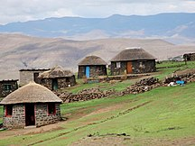 Lesotho-Independence (1966–present)-Lesotho mountain village (5285775857)