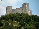 The keep of Lewes Castle, once the administrative centre of the Rape