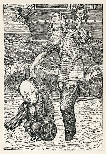 File:Lewis Carroll - Henry Holiday - Hunting of the Snark - Plate 1.jpg