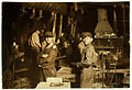 Lewis Hine, Glass works, midnight, Indiana, 1908.jpg