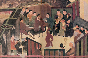 Han poetry - Liangyuan Gathering: Song dynasty painting of a Han dynasty literary gathering in the Liang Garden of Liu Wu, Prince of Liang. Liang was one of the principalities of the Han empire, and an area (like its Prince Liu Wu) associated with great literary attainment.