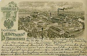"Libočany - The ""Liebotschan Brauerei"" brewery in 1906"