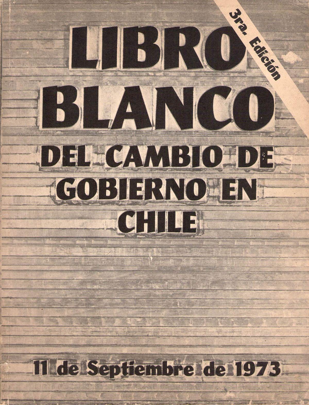 libro blanco del cambio de gobierno en chile wikipedia. Black Bedroom Furniture Sets. Home Design Ideas