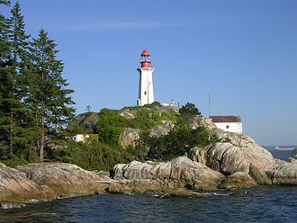 Point Atkinson Lighthouse - The lighthouse is located to alert ships entering Burrard Inlet
