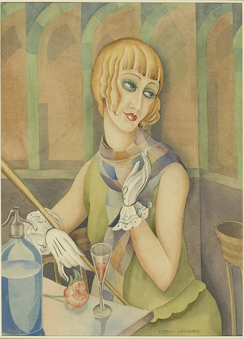 Lili Elbe (Einar Wegener), a trans woman. Watercolour by Wellcome L0047115.jpg