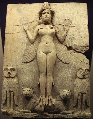 Mesopotamia - The Burney Relief, First Babylonian Dynasty, around 1800 BC