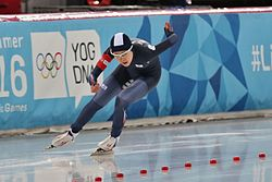 Lillehammer 2016 - Speed skating Ladies' 500m race 2 - Min Sun Kim.jpg