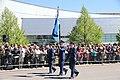 Lippujuhlan päivän 2017 paraati 024 Ilmasotakoulun lippu.JPG