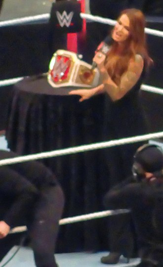 WrestleMania 32 - Lita during the presentation of the WWE Women's Championship