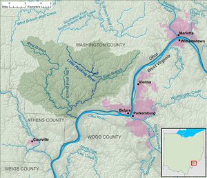 Little Hocking River - Image: Little Hocking River map