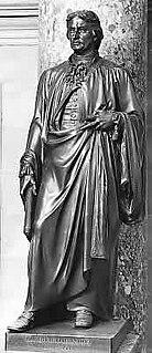 <i>Robert R. Livingston</i> (Palmer) bronze sculpture