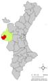 Localització de Venta del Moro respecte del País Valencià.png
