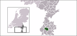 Location of Oud-Valkenburg