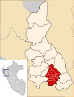 Location of the province Cajamarca in Cajamarca.svg