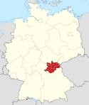 Locator map Oberfranken in Germany.svg