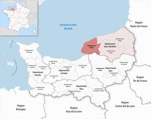 Arrondissement of Le Havre - Image: Locator map of Arrondissement Le Havre 2017