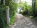 Looking along private road from Lock Stores Cottage towards Lock Lane - geograph.org.uk - 794635.jpg