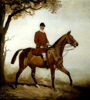 Lynwood Palmer - Lord Annaly, Master of the Pytchley Hunt. Portrait of Luke White, 3rd Baron Annaly (1857–1922), Master of the Pytchley Hunt 1902-1914, by Lynwood Palmer