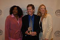 Loretta Devine, John J. Sakmar, and Jeri Ryan, May 2003 (2).jpg