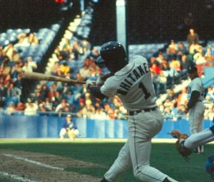 Lou Whitaker - Whitaker bats at Tiger Stadium in 1981