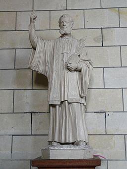 Loudun église St Pierre statue JC Cornay (1)