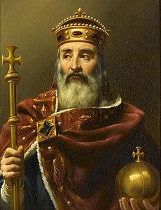 Carlo Magno in un ritratto ottocentesco di Louis-Félix Amiel