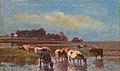 Louis Robbe - Zomers landschap met koeien bij de drinkplaats.JPG