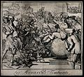 Louis XIV receives an enema while sitting on a globe of the Wellcome V0011906.jpg