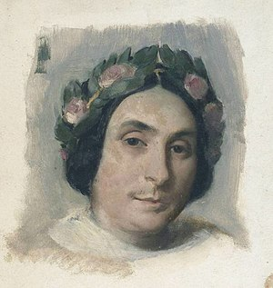 La Esmeralda (opera) - Louise Bertin, the composer of La Esmeralda, in a portrait by Victor Mottez