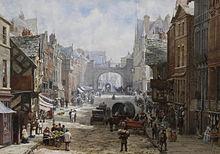 Уличная сцена XIX века