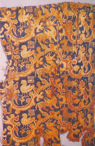 Loulan Kingdom - Loulan silk fragment