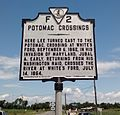 Lucketts VA Potomac Crossings Historical Marker.jpg