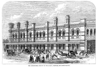 Ludgate Hill railway station - The station in 1865