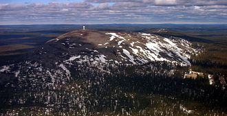 Lapland (Finland) - The Luosto inselberg from air.