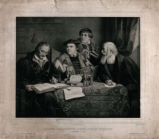 Luther, Melanchthon, Pomeranus and Crucicer Wellcome V0048412