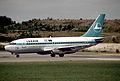 Luxair Boeing 737-229; LX-LGN@LUX , August 1991 DWV (5288723470).jpg