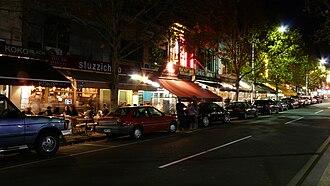 Lygon Street, Melbourne - The street at night