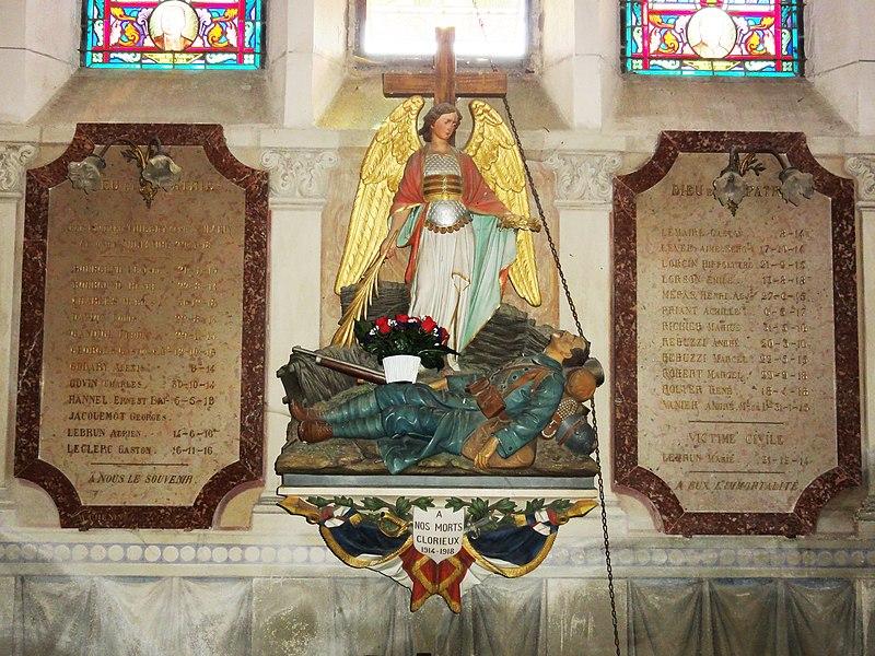 Mécrin (Meuse) église Saint-Evre monument aux morts
