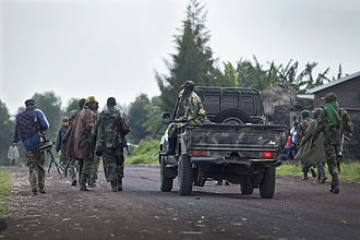 M23 rebellion - M23 rebels with a technical near Goma, March 2013