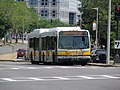 MBTA route 28 bus near Roxbury Crossing, July 2016.JPG